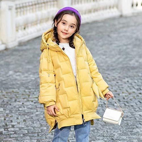 FDSAD Veste Chaude pour Enfants Nouvelle Version Coréenne De La Veste De Vêtements Épais pour Enfants Taille 90 Jaune