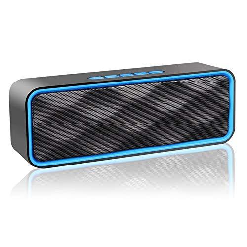 Enceinte Bluetooth Portable, Aigoss Haut Parleur sans Fil, Bluetooth 4.2 Subwoofer, Son HD Stéréo,...