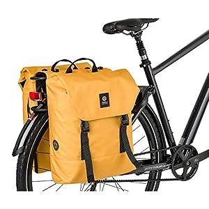 AGU Essentials DWR Urban Klickfix Alforjas Bicicleta, Bolsa Bicicleta 36 litros para Llevar al Hombro, Repelente al Agua, Reflectante, Poliéster Reciclado 100% - Azul - 36L