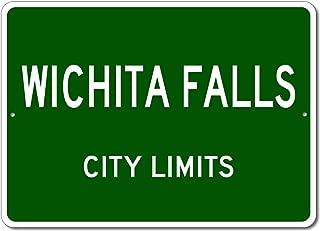 Wichita Falls, Texas - USA City Limits Street Sign - Aluminum 10