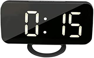 وظيفة ذاكرة الوقت شاشة عرض الوقت LED وظائف الغفوة LED ساعة رقمية 12/24 ساعة تنسيق وقت الطالب لعامل المكتب