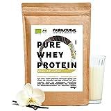 BIO WHEY Protein-Pulver Vanille [aus Deutschland] ohne Soja - Hochwertige Bio Eiweiß-Shakes » 100% NATÜRLICH « 650g Bio Eiweiß-Pulver aus Premium Molkenprotein-Pulver