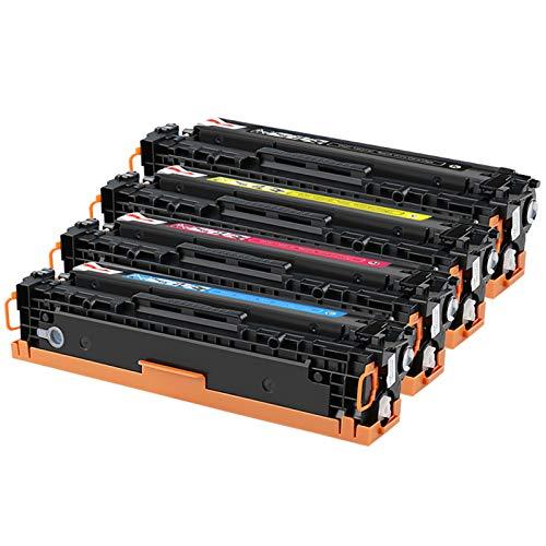 GHN Cartuchos de tóner compatibles mágicos para HP CF210A / CB540A / CE320A para HP Color Laser Jet Pro 200 / M276N / 276NW / M251N / CP1210 / CP1215 / CP1214 / CP1215 etc. Etc,Large Capacity Version