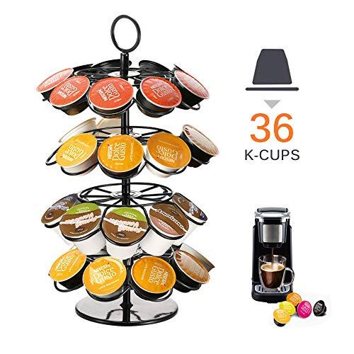 Porta cialde da caffè, con giostra per Capsule di caffè Nespresso Dolce Gusto K-Cup Nero-36