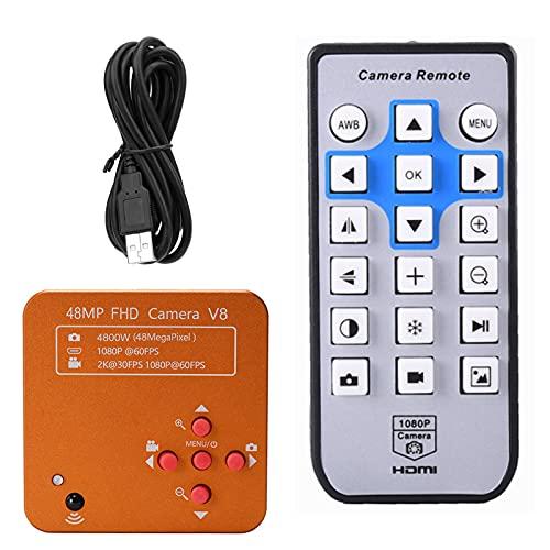 Telituny Cámara video del microscopio de la industria, 2K 48MP 1080P cámara del microscopio HDMI USB C interfaz cámara industrial para la reparación de la soldadura del teléfono
