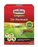 Substral Rasensamen Die Nachsaat, Rasensaat, Schnell keimende strapazierfähige Rasenreparatur-Mischung, 2 kg für 100 m²