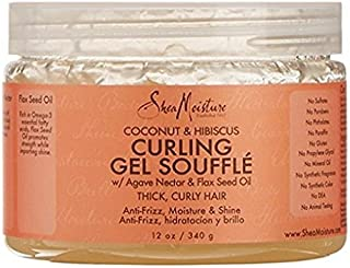 Shea Moisture Coconut & Hibiscus Gel Souffle 12 Ounce (354ml) (2 Pack)