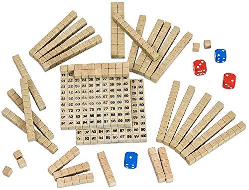 WISSNER® aktiv lernen - Mathespiel - Hunderterraum - RE-Wood®