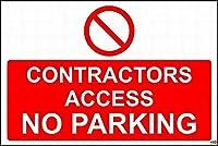 警告サイン契約アクセス駐車場標識道路標識ビジネス標識8 x 12インチアルミニウム金属錫記号Z 0829