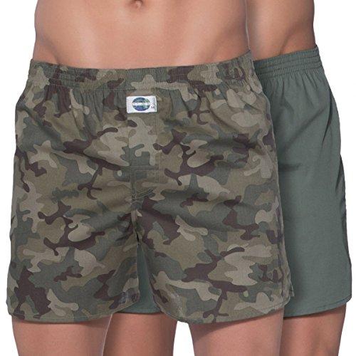 D.E.A.L International 2-er Set Boxershorts Camouflage und Grün Size XXL