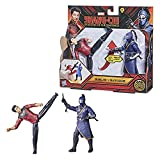 Marvel Hasbro Shang-Chi and The Legend of The Ten Rings Action Figure Toys, Shang-Chi vs. Death Dealer 6-inch Battle Pack, Kids Ages 4 and Up