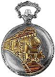 Excellanc llanc Analog Reloj de bolsillo con mecanismo de cuarzo Tren Locomotora...