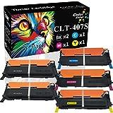 5-Pack ColorPrint Compatible CLT-407S Toner Cartridge Replacement for Samsung CLT407S CLP-325 CLP325 Work with CLP-320 CLP-320N CLP-321N CLP-325W CLX-3180 CLX-3185N CLX-3185FW Printer (2X BK+C+M+Y)