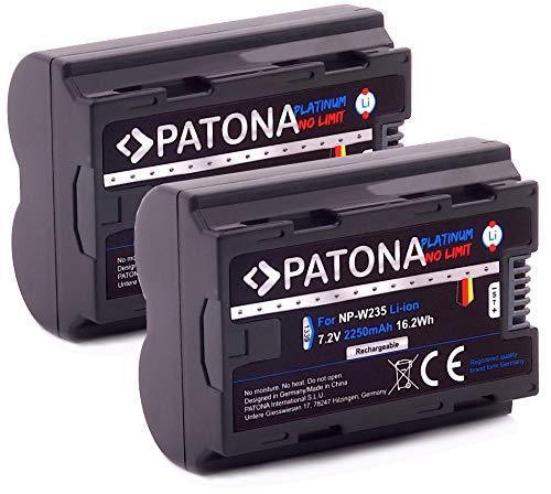 PATONA Platinum (2X) Ersatz für Akku Fujifilm NP-W235