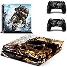 Playing video game PS4 Console and DualShock 4 Controller Skin Set by okanhyeu - PlayStation 4 Vinyl