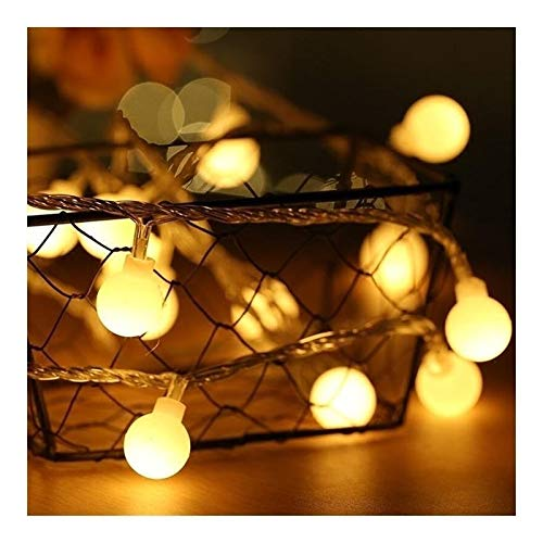 Fashion Fairy Lights,2m 5m 10m Usb Earth Ball Led String Light Christmas Holiday Wedding Party Holiday Decoration Garland Coffee Shop (Color : Warm White, Size : 2M 20LEDs)