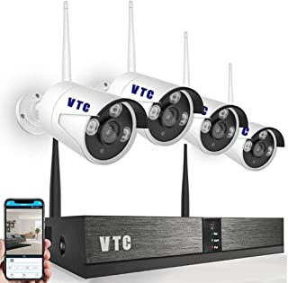 1080P Wireless Security Camera System Outdoor Full HD 4 Channel Network Video Recorder Surveillance System