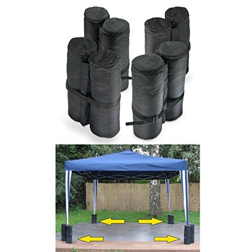 Carparts-Online 30409 Pavillion Zelt Sandsack Gewichte Set 4 Stück 14x42 CM schwarz