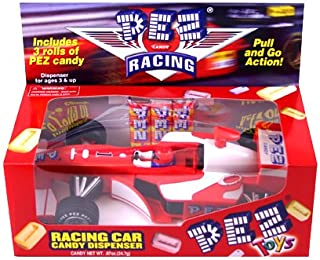 Pez Candy Dispenser Pull-N-Go Formula One Race Car Red