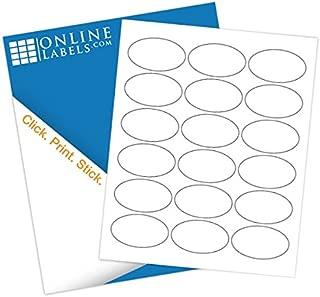 2.5 x 1.5 Oval Labels - Pack of 4,500 Labels, 250 Sheets - Inkjet/Laser Printer - Online Labels