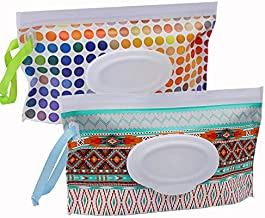 2 Pack Baby Wipe Dispenser,Reusable Portable Wipe Holder,Baby Wipes Container,Travel Baby Wipes,Refillable Wet Wipe Pouch