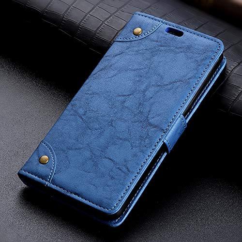 GHFPCASE - Funda de piel con tapa para Galaxy A9 (2018) / A9s, con tarjetero, ranuras para tarjetas y billetera, color negro