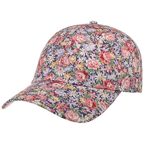 LIPODO Gorra Allover Flowers Mujer - de béisbol algodón con Visera Primavera/Verano - Talla única Azul Oscuro-Rosa Palo