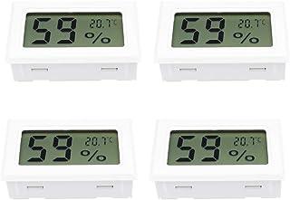 Aideepen 4 UNIDS Mini LCD Termómetro Digital Higrómetro Temperatura Interior Conveniente Sensor Humedad Medidor Instrument...