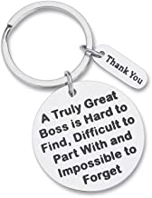 Boss Appreciation Gift Birthday Keychain for Supervisor Leader Thank You Gifts Mentor Retirement Gift Leaving Gift from Coworker Colleague Farewell a Truly Great Boss Is Hard To Find Christmas Key Rin
