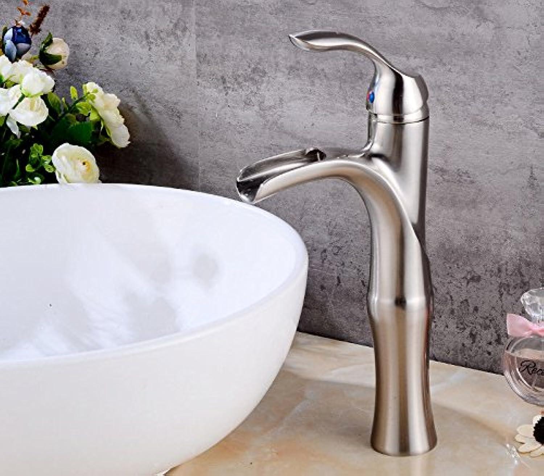 XPYFaucet Wasserhahn Armatur Mischbatterie Europisches Retro heies und kaltes Badezimmerbadezimmer-einzelnes Loch gebürstet das Erhhen