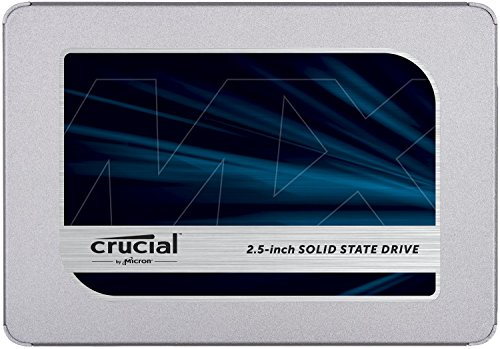 Crucial MX500 1TB 3D NAND SATA 2.5 Inch Internal SSD, up to 560MB/s - CT1000MX500SSD1 Blue/Gray