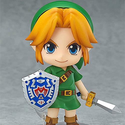 BOBLI 10CM La Leyenda de Zelda Link Q Versión Nendoroid PVC Personaje de Anime Colección Favorita Personal Exquisita Estatua de Escritorio Decoración de Personajes