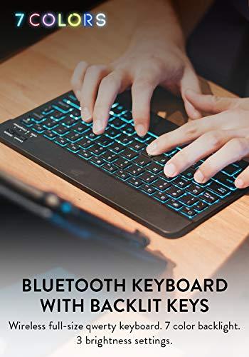 CooperCasesBACKLIGHTEXECUTIVEBluetoothバックライト付きキーボードケース【7-8インチタブレット汎用サイズ】ワイヤレス7色カバー着脱可能(ローズゴールド)