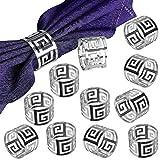 LogHog Silver Napkin Rings Set of 12,Attractive Glossy Napkin Ring Metal Buckles,Elegant N...