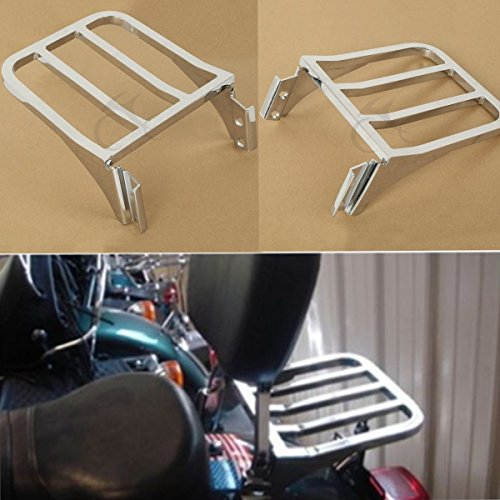 XFMT Chrome Sissy Bar Backrest Sport Detachable Luggage Rack Compatible with Harley Softail FLSTF FLST FLSTC FLSTSC 2006-2018