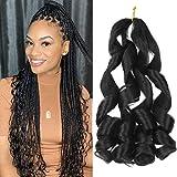 Curly Braiding Hair 20 inch 8 Packs New Loose Wave Crochet Pre...