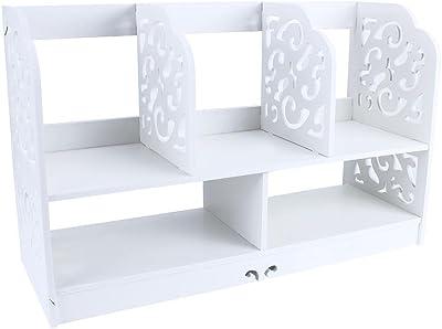 Scrivania Vintage Bianca : Vidaxl scrivania bianca tavolo salotto ufficio elegante classico con