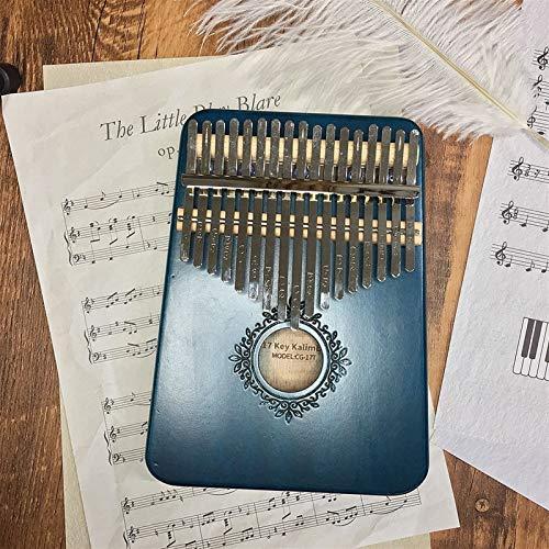Kalimba, Daumenklavier 17 Keys Kalimba Daumenklavier Praktische Holz Mahagoni Mbira Körpermusikinstrumente (Color : Blue)