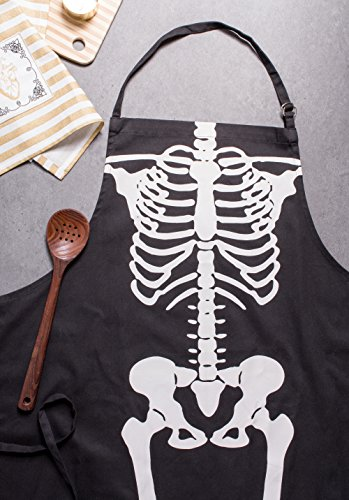 DII Happy Halloween Collection Apron, One Size, Skeleton