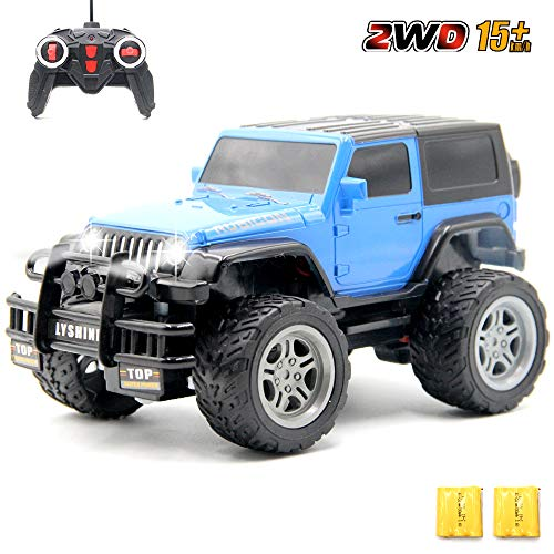 GMAXT Rc Cars,6061 Remote Control Car,1/18 Scale 15km/h,2.4Ghz 2WD Land Off-Road,with Car Light and 2 Rechargeable Batteries,Give The Child Best The Gift