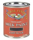 General Finishes Water Based Milk Paint, 1 Quart, Lamp Black