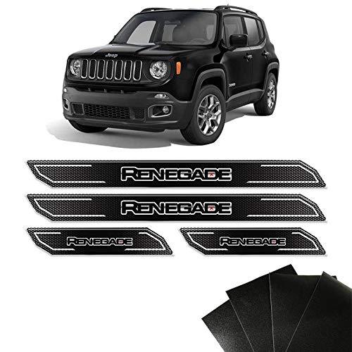 Kit Soleira Diamante Jeep Renegade 2016/2018 E Protetor de Porta