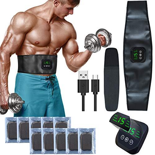 zociko EMS Trainingsgerät, Bauchmuskelgürtel Elektrostimulation Muskelstimulation EMS Bauchtraining Professional Bauch Muskel ABS Muskelstimulator USB-Aufladung für Herren Damen