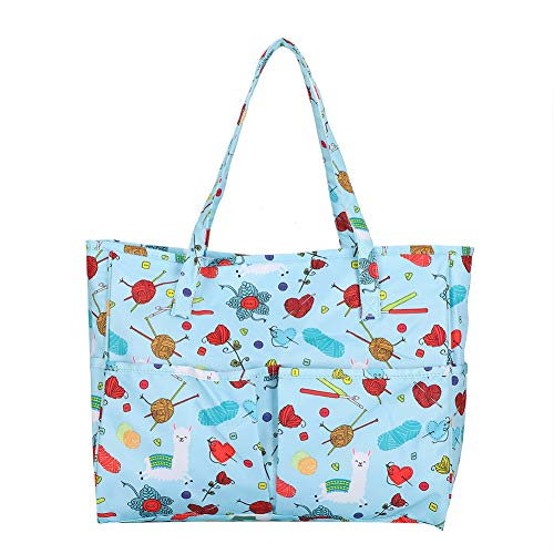 Bolsa de tejido multifunción, bolsa divisor interior, bolsa de nailon para almacenamiento, fácil de(Cartoon tote bag)