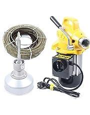 RANZIX 20-100mm buisreinigingsmachine 400 watt buisreinigingsapparaat 22.5mx16mm spiraal buisreiniger reiniging gereedschap geel