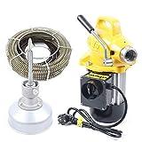 RANZIX 20-100mm Rohrreinigungsmaschine 400 Watt Rohrreinigungsgerät 22.5mx16mm Spirale Rohr-Reiniger Reinigung Werkzeug (Gelb)