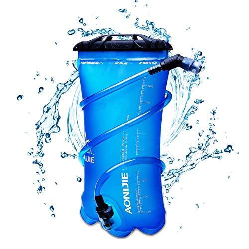 TRIWONDER Poche Hydratation 1,5L 2L 3L Réservoir d'eau Souple TPU Sac d'eau Poche à Eau Vessie d'eau Sac d'hydratation pour Marathon Camping Randonnée Vélo Running (1,5L (TPU))