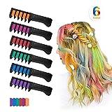 Xiton 6 Colores/Set Tinte Pelo NiñAs Temporal Tizas Para El Pelo Peine Lavable No TóXico Del Color Pelo Para El Color De Pelo Brillante Vibrante Tinte De Pelo Para Las Muchachas, Partido, Cosplay