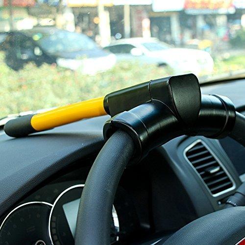FULL WERK T-shaped Universal Anti-Theft Car Van High Security Rotary Steering Wheel Lock for SUV Truck Car