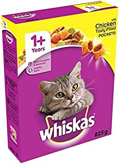 Whiskas Cat Complete Dry with Chicken 825g (Pack of 2)